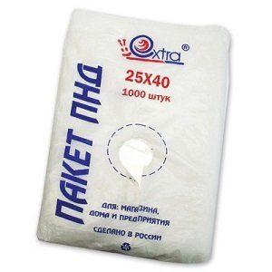 Пакет фасовочный 25х40 упак/1000 шт, 8 мкм